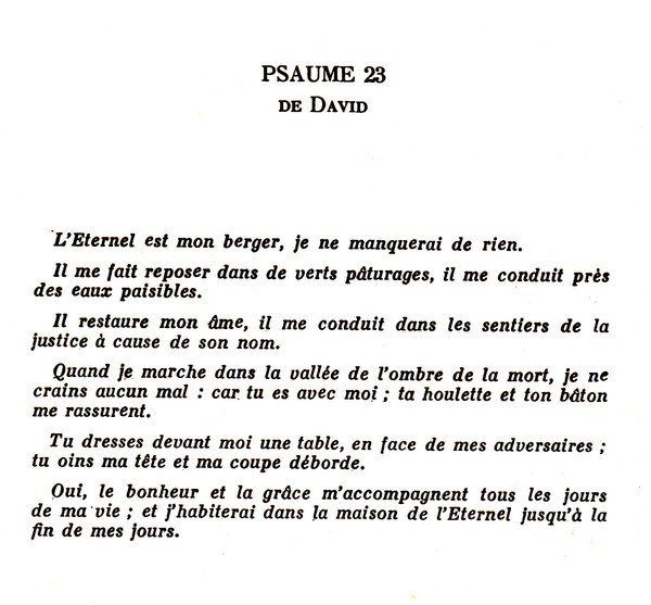Psaume 23 de David dans Psaumes 374ee19f